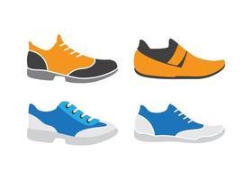 set di icone di scarpe vettore
