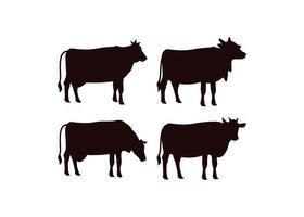 mucca icona modello di progettazione illustrazione vettoriale isolato