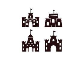Castello icona modello di disegno vettoriale illustrazione isolato