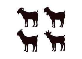 set di modelli di design icona di capra