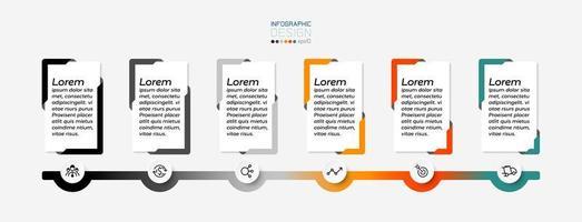 la casella di messaggio rettangolare può essere utilizzata per aziende, organizzazioni pubblicitarie o opuscoli. infografica. vettore