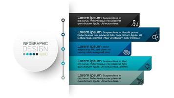 il design dell'etichetta mostra le informazioni sulla presentazione del piano. vettore infografica.