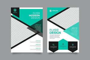 design innovativo volantino aziendale aziendale vettore