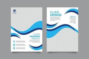 modello di volantino aziendale moderno blu creativo vettore