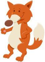 cartone animato volpe rossa personaggio animale comico vettore
