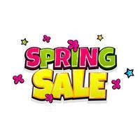 il testo comico annuncia la vendita di primavera vettore