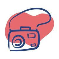 icona di stile della linea della macchina fotografica di fotografia