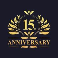 15 ° anniversario di design vettore