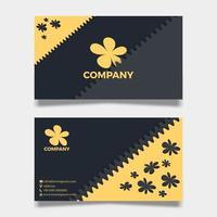cartellino floreale giallo su affari o organizzazione. vettore
