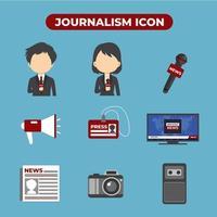 impostare 9 delle icone di giornalismo vettore