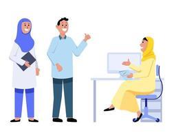 ha spiegato i problemi dall'impiegato dell'ufficio musulmano della ragazza vettore