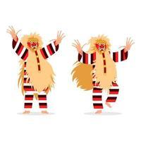 spirito ballerino tradizionale personaggio di bali