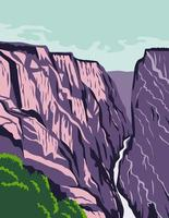 canyon in colorado stati uniti poster art a colori