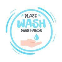 tenuto in mano per ricevere gel alcolico per lavarsi le mani il concetto di lavaggio delle mani uccide i virus vettore