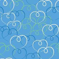 vettore seamless texture di sfondo pattern. colori disegnati a mano, blu, verdi, bianchi.