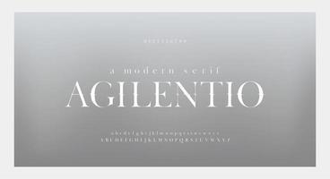 set di caratteri e numeri di lettere dell'alfabeto impressionante ed elegante vettore