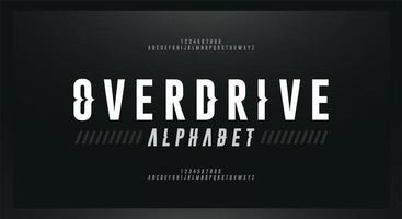 carattere sportivo moderno alfabeto corsivo vettore