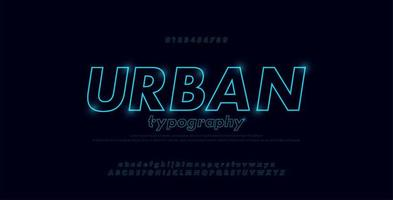 alfabeto di carattere astratto linea sottile urbana
