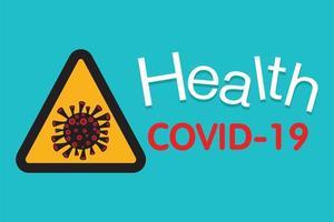 covid-19, disegno vettoriale di focolaio di coronavirus