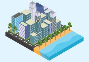Illustrazione isometrica di Los Angeles