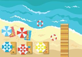 Illustrazione di vettore di vista aerea spiaggia