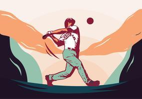Disegno vettoriale di giocatore di baseball