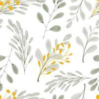 acquerello foglia oro fogliame seamless pattern vettore