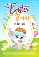 modello di vettore piatto poster cofano di Pasqua