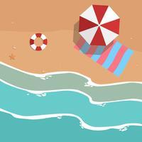 Illustrazione aerea di vista della spiaggia