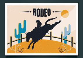 disegno vettoriale di rodeo flyer