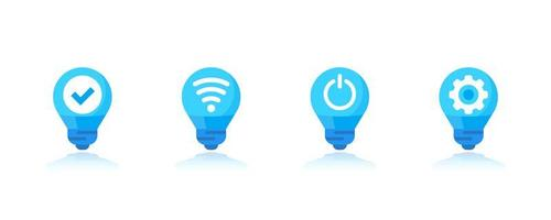 set di icone di luci led intelligenti vettore