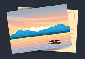 Illustrazione di cartolina dell'Alaska