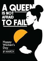 Vettore del manifesto della giornata internazionale della donna