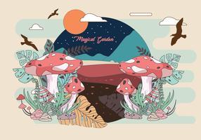 Illustrazione di vettore del giardino magico