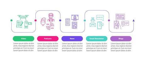 modello di infografica vettoriale strumenti di promozione del prodotto. elementi di design di presentazione pubblicitaria digitale.