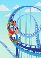 Fun Rollercoaster vettore