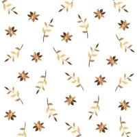 sfondo di fiori e rami con foglie d'oro