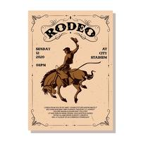 Vettore del flyer del rodeo
