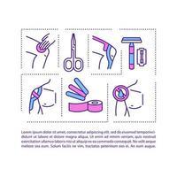 icona del concetto di taping kinesiologico con testo