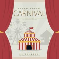 Illustrazione di poster di Carnevale vettore