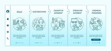 modello di vettore di onboarding di informazioni sugli infortuni sul lavoro