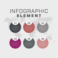 affari infografica elemento disegno vettoriale
