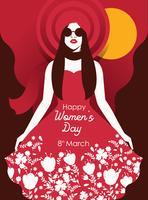 Vettore dell'illustrazione del giorno delle donne internazionali