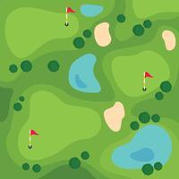 Campo da golf con vista dall'alto vettore