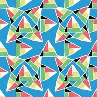 vettore seamless texture di sfondo pattern. disegnato a mano, colorato su sfondo blu.