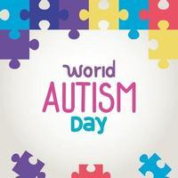 giornata mondiale dell'autismo con pezzi di un puzzle