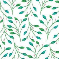 sfondo di rami con decorazioni di foglie