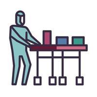 icona di consegna della medicina sulla pandemia di coronavirus vettore