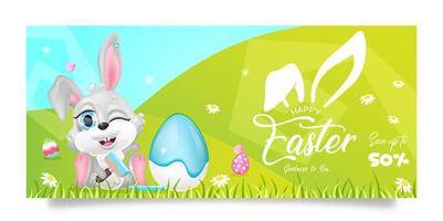 modello di vettore piatto banner di vendita di Pasqua