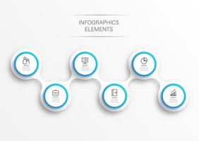 elementi astratti del modello di infografica grafico con etichetta